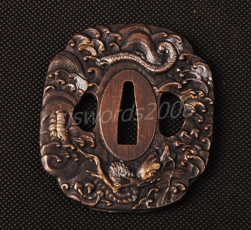 Alloy Tsuba For Japanese Samurai Sword Wakizashi Katana