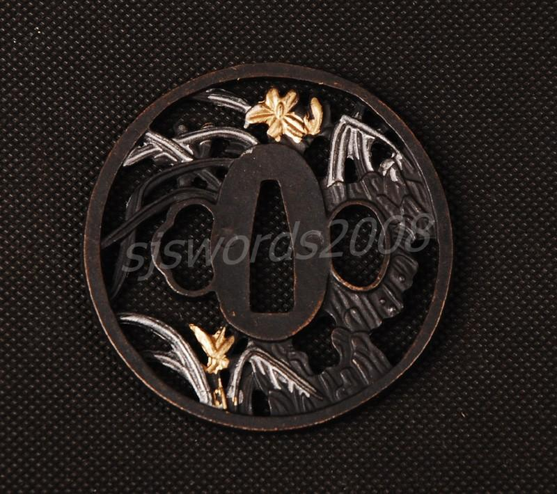Nice Alloy Tsuba For Japanese Sword Katana Wakizashi