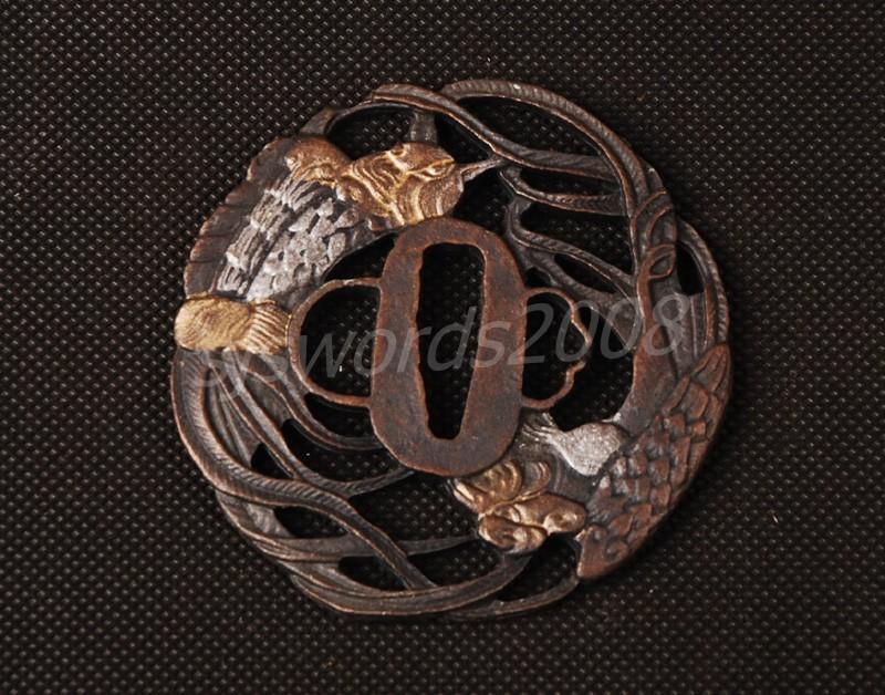 Nice Design Alloy Tsuba Guard For Japanese Sword Katana Wakizashi
