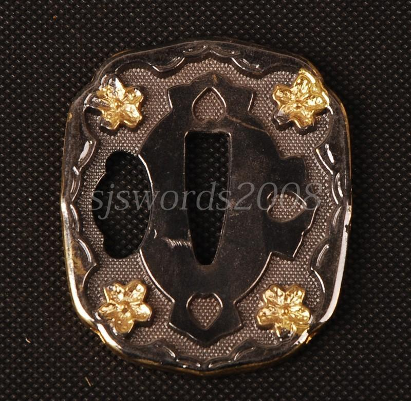 Nice Look Quare Tsuba Alloy Guard For Japanese Sword Katana Wakizashi