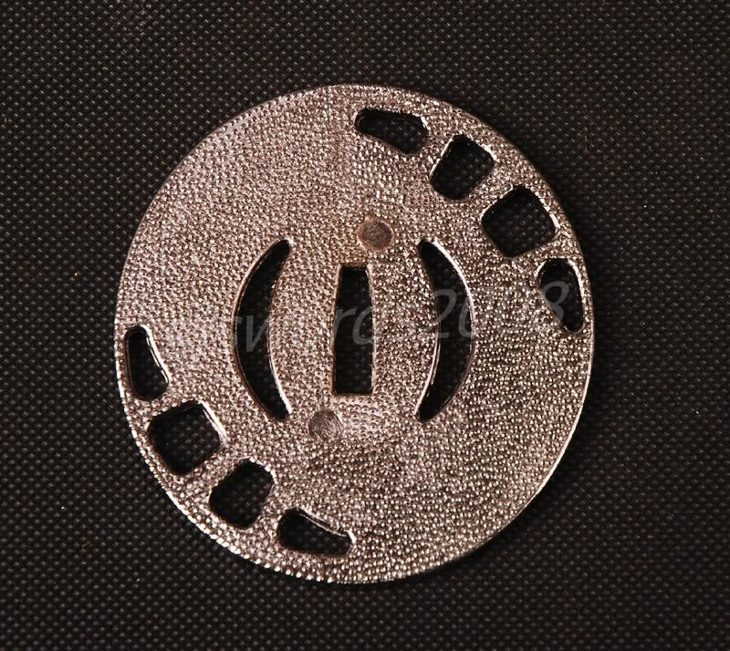 Round Tsuba For Japanese Sword Alloy Guard Silver Color