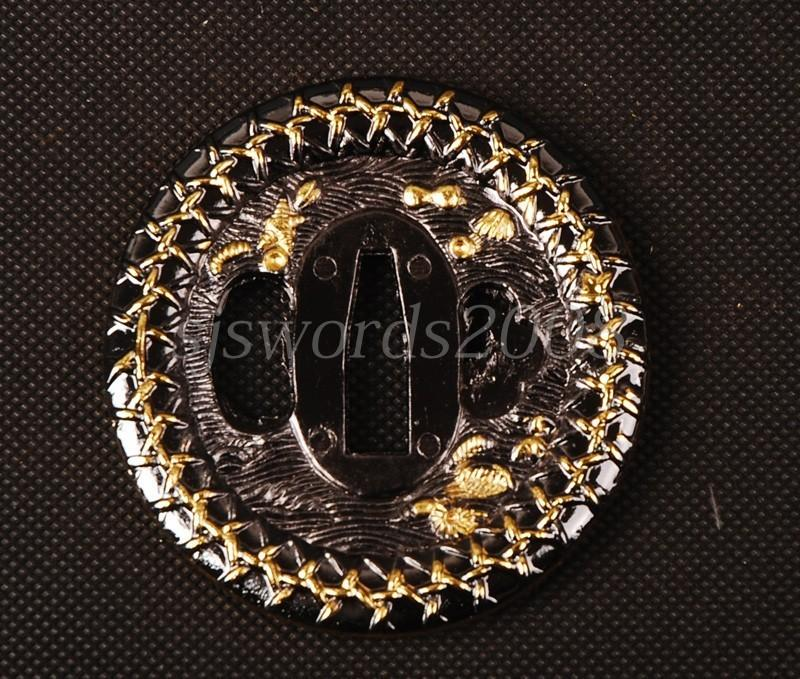 Round Tsuba Plate For Japanese Sword Katana Wakizashi Alloy Cool Design