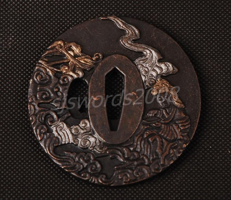 Japanese Sword Katana Wakizashi Part Alloy Tsuba For Protecting Your Hand