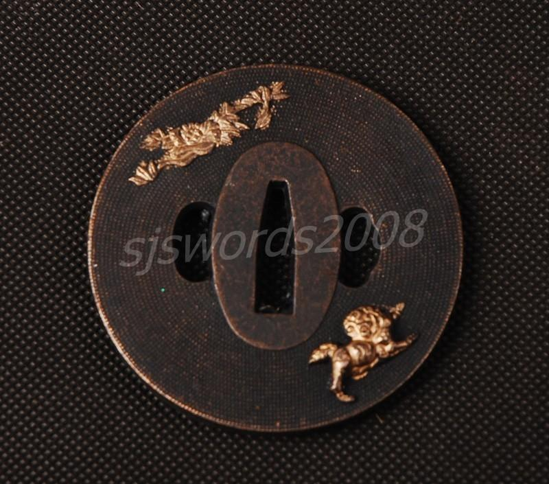 Alloy Japanese Guard Tsuba For Tanto Samurai Katana Sword Guard Wakizashi