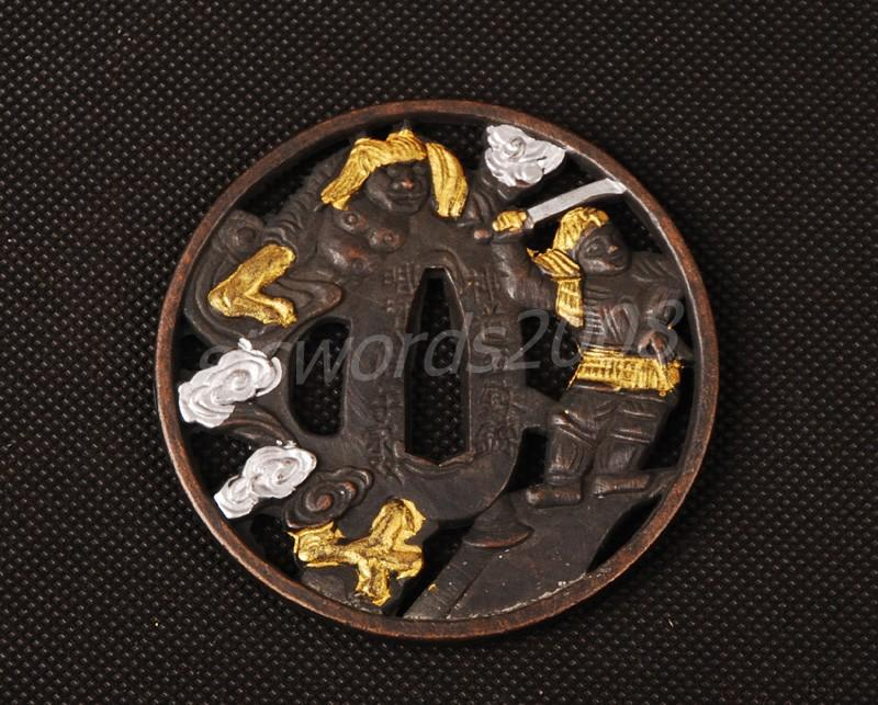 Alloy Tsuba For Japanese Samurai Sword Katana Wakizashi