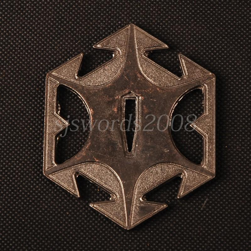 Hexagon Alooy Tsuba Guard Plate For Japanese Sword Katana Wakizashi