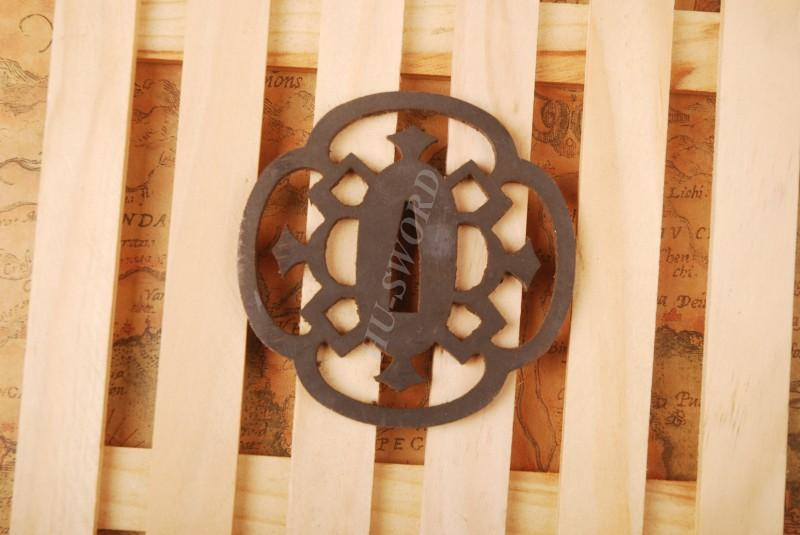 Iron Tsuba Hand Guard For Japanese Samurai Sword Knives Katana Wakizashi