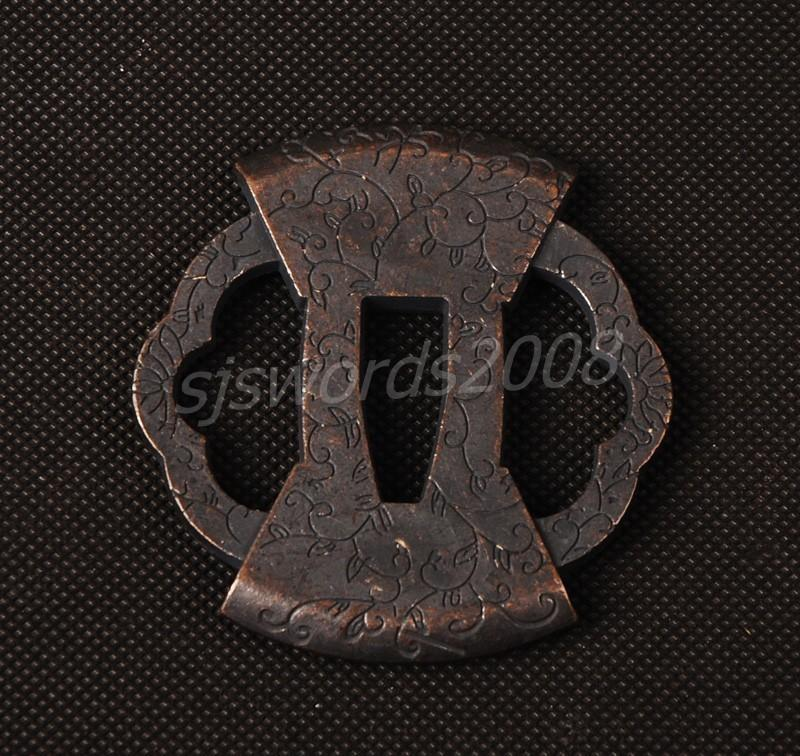 Tsuba Guard Part Of The Japanese Samurai Sword Katana Nice Patterns
