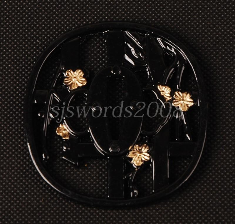 Alloy Tsuba Black Guard For Japanese Sword Katana