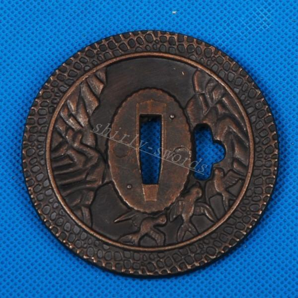 Alloy Tsuba For Japanese Samurai Katana Or Wakizashi Or Tanto Sword