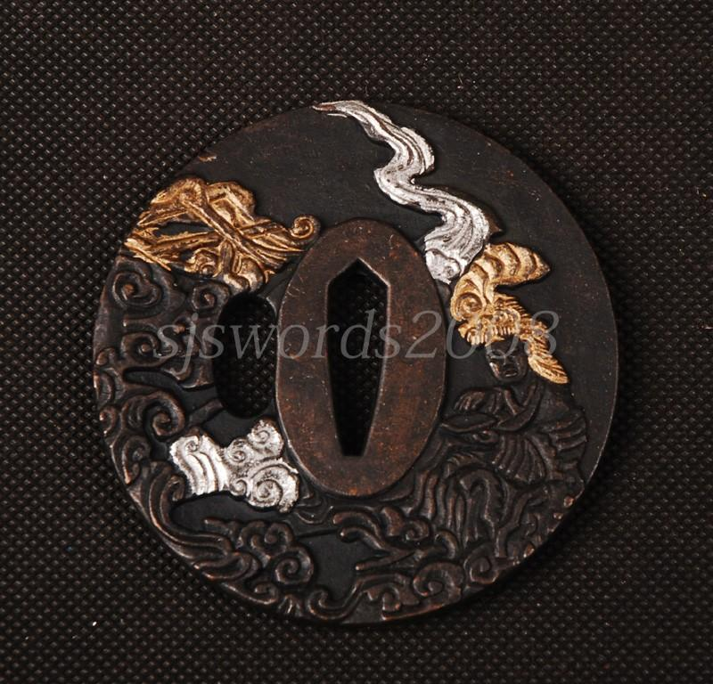 Japanese Sword Part Alloy Guard Plate For Katana Wakizashi