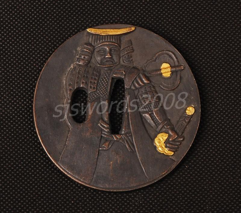 Japanese Sword Part Alloy Tsuba For Katana Wakizashi