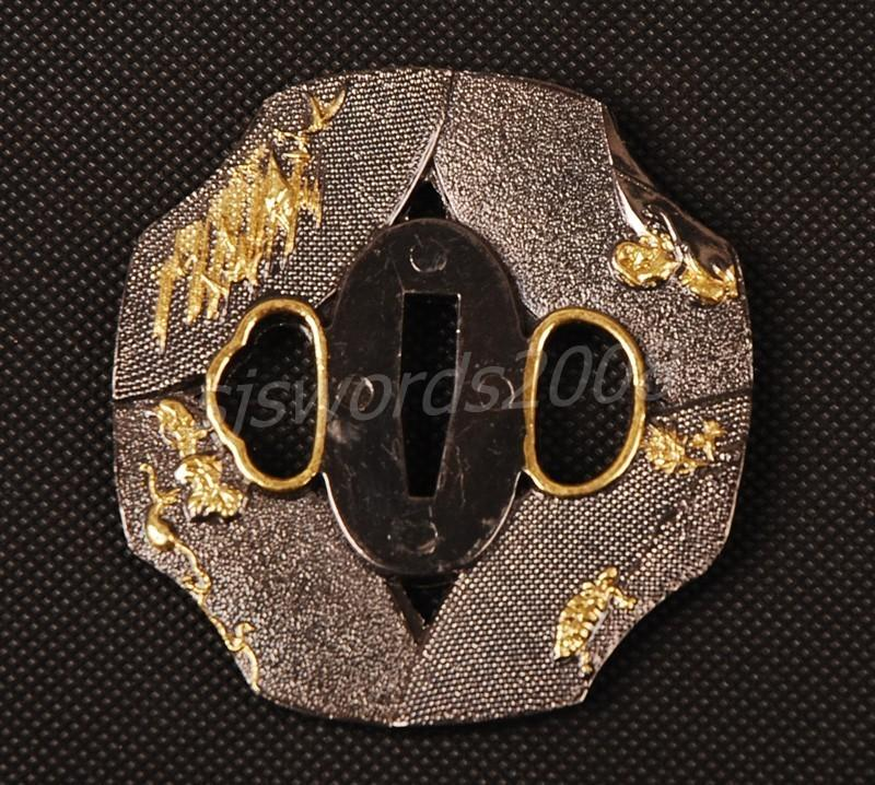 Tsuba For Japanese Samurai Sword Wakizashi Katana Alloy